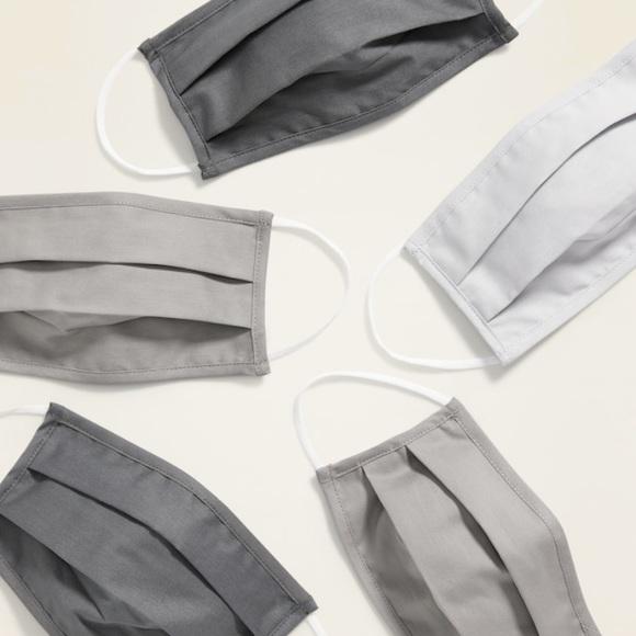 Old Navy Non Medical Grade Adult 5 Face Masks Grey